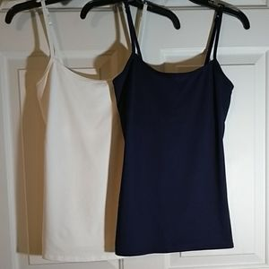 Two NY & CO cami's w built in bra